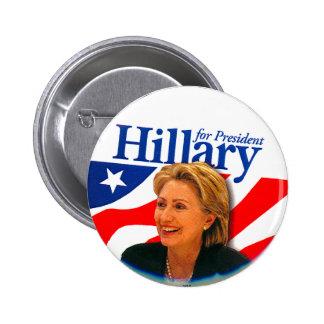 Hillary - bouton badge rond 5 cm