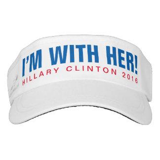 """Hillary Clinton 2016 """"ich bin MIT IHR!"""" Maske Visor"""