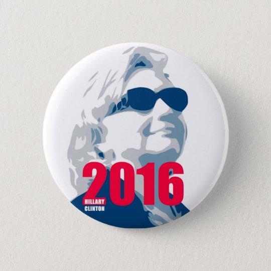 Hillary Clinton 2016 Runder Button 5,7 Cm
