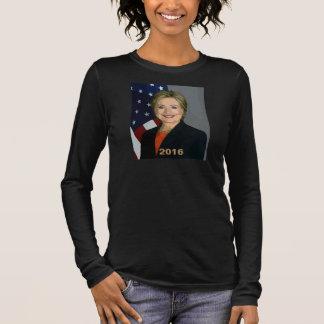 Hillary Clinton 2016 schwarzes V-Hals Shirt