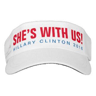 """Hillary Clinton 2016 """"SIE ist MIT US!"""" Maske Visor"""