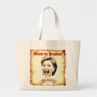 Hillary Clinton 2016 wollte für Jumbo Stoffbeutel