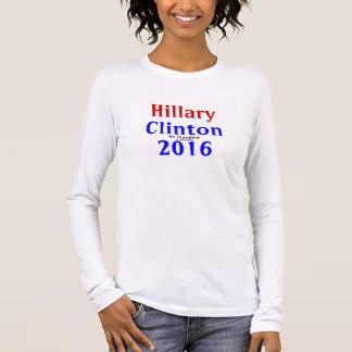 HILLARY CLINTON für Präsidenten 2016 Langarm T-Shirt