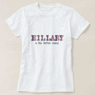 Hillary Clinton für Präsidenten 2016 ROTES weißes T-Shirt