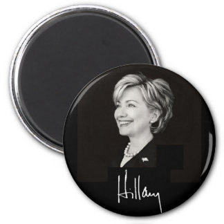 Hillary Clinton-Magnet Runder Magnet 5,1 Cm