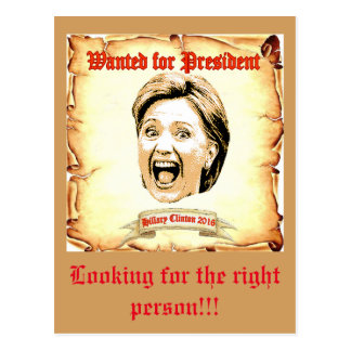 Hillary Clintonpostkarte 2016 Postkarte