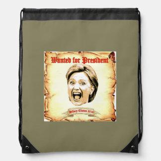 Hillary Clintonrucksack 2016. Turnbeutel
