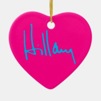 """HILLARY"" einseitig Keramik Herz-Ornament"