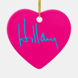 """HILLARY"" einseitig Keramik Ornament"