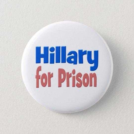 Hillary für Gefängnisknopf, -ROSA u. -BLAU Runder Button 5,1 Cm