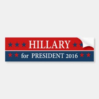 """""""HILLARY für Präsidenten 2016 """" Autoaufkleber"""