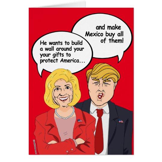 Hillary gegen Trumpf-Geburtstags-Karte - eine Wand Grußkarte