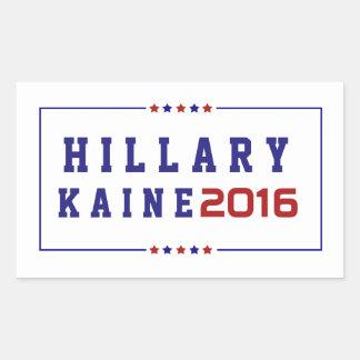 Hillary Kaine - Wahl 2016 Rechteckiger Aufkleber