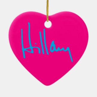 """HILLARY "" KERAMIK Herz-Ornament"