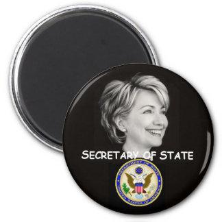 Hillary-Staats-Magnet Runder Magnet 5,1 Cm