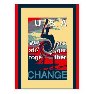 Hillary USA sind wir zusammen stärker Postkarte