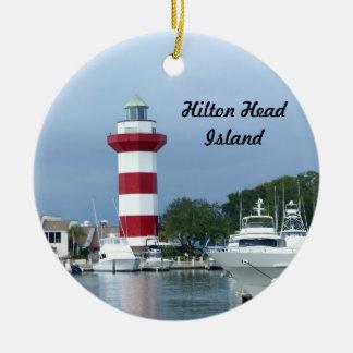 Hilton Head Leuchtturm Keramik Ornament