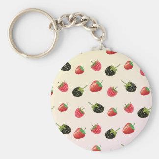 Himbeere, Erdbeere, BlackBerry: Sommerfrucht Schlüsselanhänger