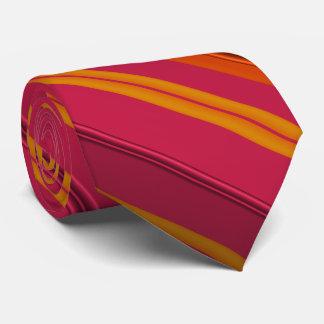 Himbeere und orange Fraktal Striped Individuelle Krawatten