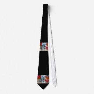 Himbeeren und Blaubeeren Bedruckte Krawatte