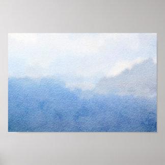 Himmel-Aquarell-Malerei Poster