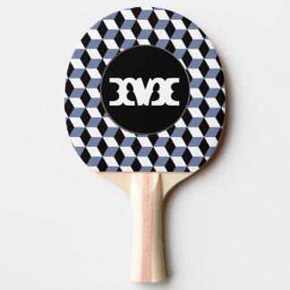 Himmel-berechnet blaues Schwarz- u. weißes 3D des Tischtennis Schläger