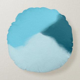 Himmel-Blau abstrakt Rundes Kissen