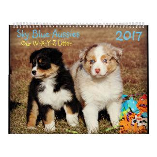 Himmel-Blau-Australier-Fall-Welpen - Kalender 2017