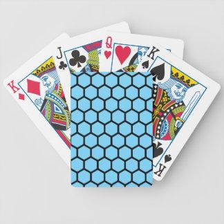 Himmel-Blau-Hexagon 4 Poker Karten