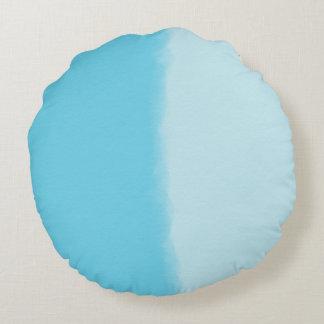 Himmel-Blau-schattiertes dekoratives Rundes Kissen