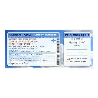 Himmel-Boarding-Durchlaufhochzeit Karte-laden mit 10,2 X 23,5 Cm Einladungskarte