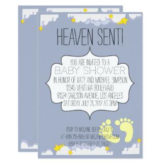 Himmel gesendete Babyparty-Einladung 12,7 X 17,8 Cm Einladungskarte