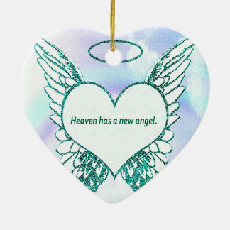 Himmel hat einen neuen Engel Keramik Herz-Ornament