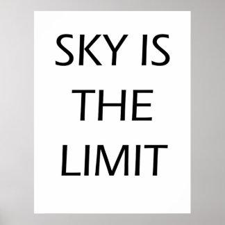 Himmel ist die Grenze - motivierend Plakat