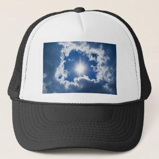 Himmel, Sonne und Wolken Truckerkappe