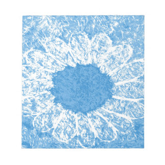 Himmelblau-Blume Notizblock