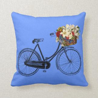 Himmelblau-Fahrrad-Blume   Throwkissen Kissen