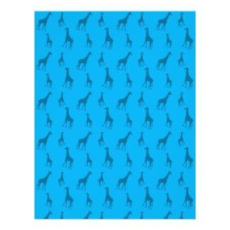 Himmelblau-Giraffenmuster Flyer Druck