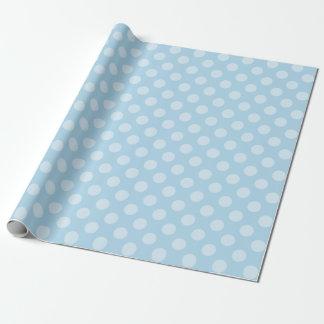 Himmelblau mit Baby-Blau-Tupfen Geschenkpapier