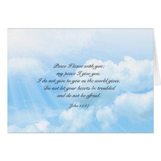 Himmels-blauer Himmel-christliche Mitteilungskarte