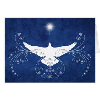 Himmlische Tauben-Weihnachtskarte Karte