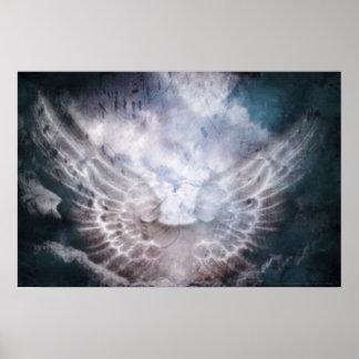 Himmlischer Sprachdruck Poster