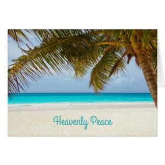 Himmlisches Friedenspalme-strandnahes Weihnachten Grußkarte