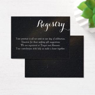 Himmlisches Traum-Register Visitenkarte