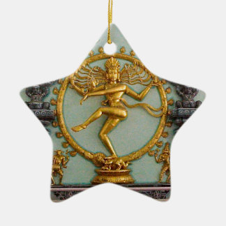 Hindische Götter, Shiva Keramik Stern-Ornament