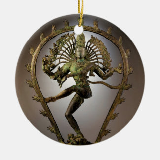 Hindische Gottheit Shiva Tamil der Rundes Keramik Ornament