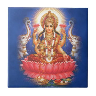 Hindische Göttin Laxmi Devi Mata Kleine Quadratische Fliese