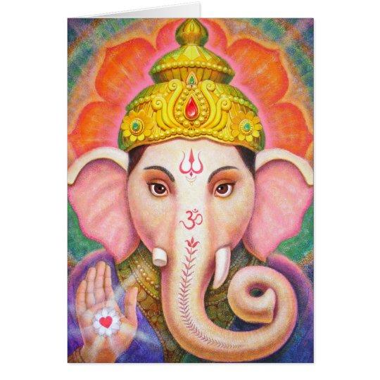 Hindische Kunst Ganesha positive geistige Karte