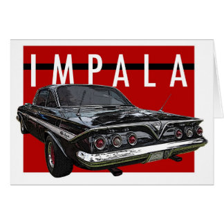 Hintere Ansicht 1961 Chvrolet Impala Karte