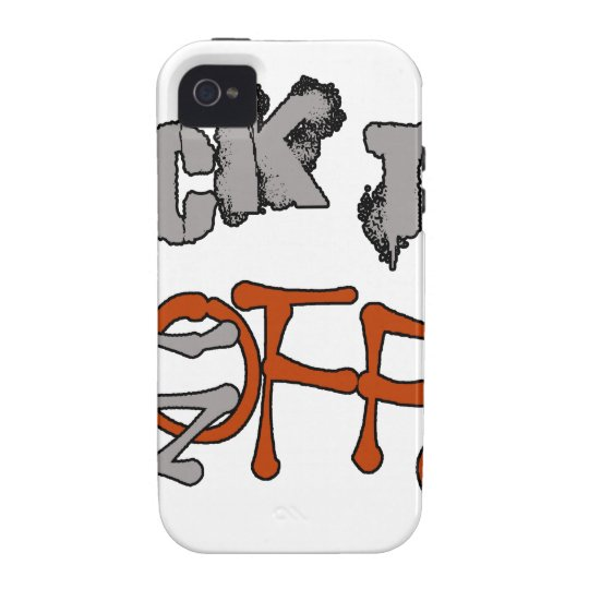 Hinteres F*CK WEG VON lustigem frechem Vibe iPhone 4 Case